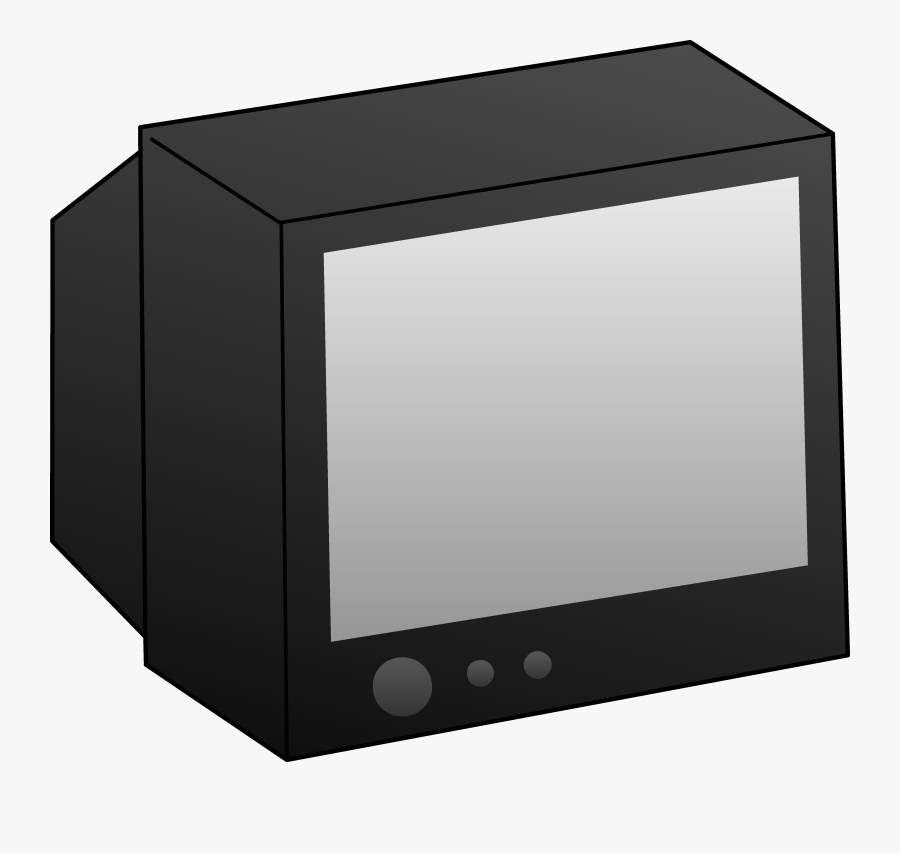 Clipart Tv - Old Tv Clipart Black And White, Transparent Clipart