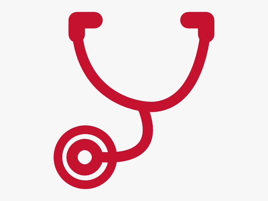 Stethoscope Clip Art Red, Transparent Clipart
