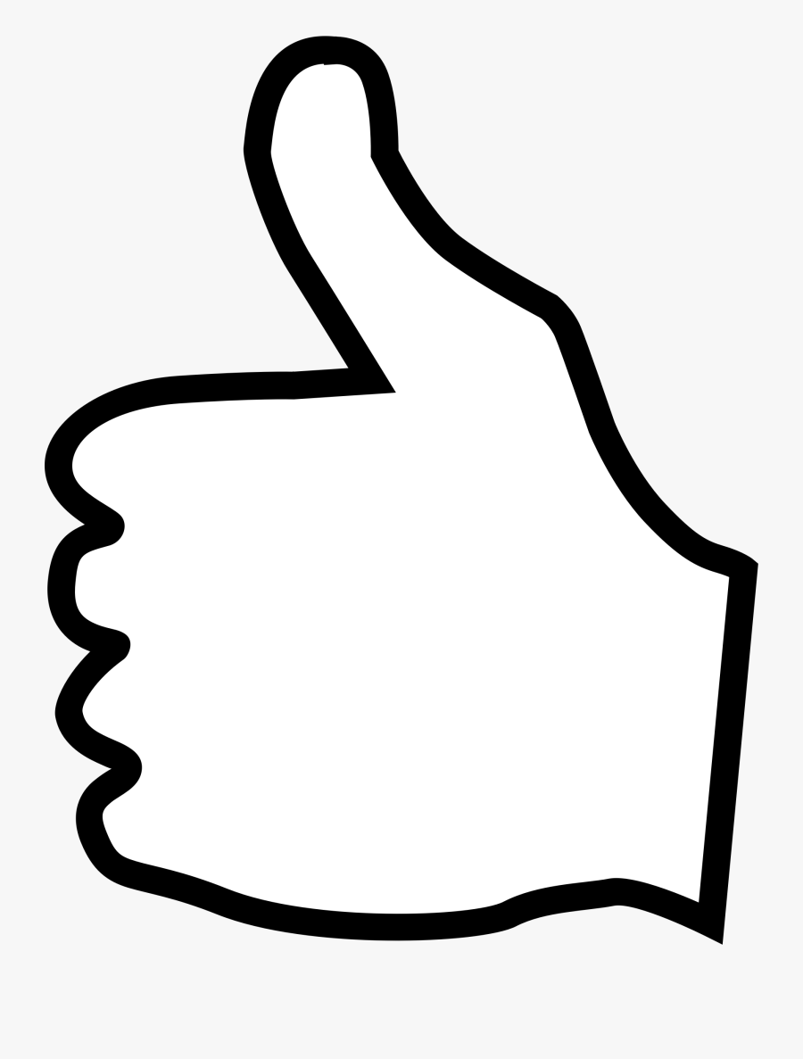 Clipart Thumbs Up - White Thumbs Up Transparent Background, Transparent Clipart