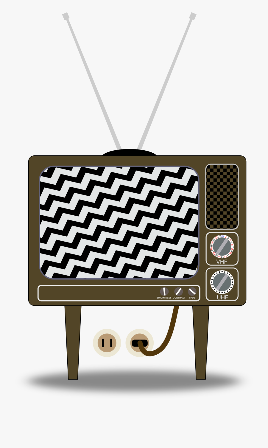 Tv Clipart Static - Old Fashioned Tv Cartoon, Transparent Clipart