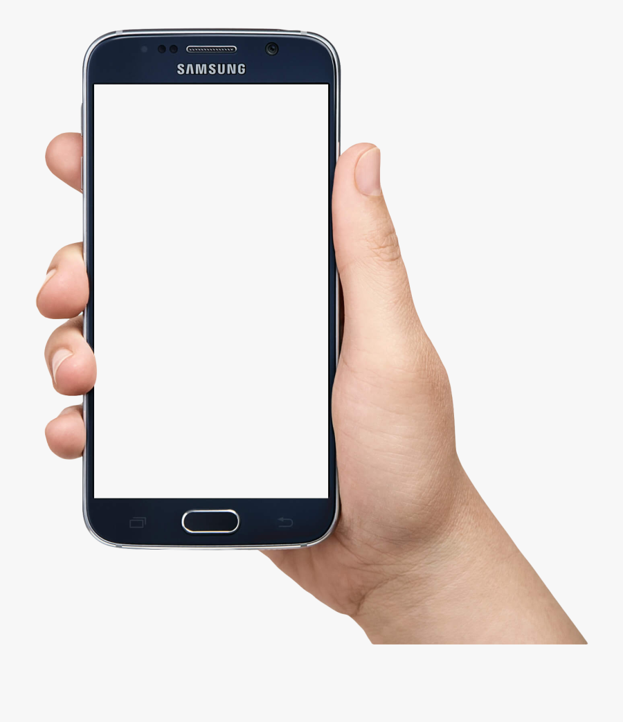 Samsung Mobile Phone Clipart Hand Holding - Hand Samsung Phone Png, Transparent Clipart
