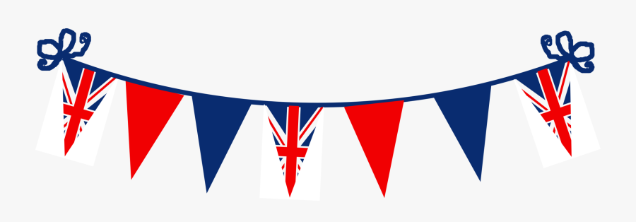 Clip Art American Flag Bunting Clipart - Union Jack Bunting Vector, Transparent Clipart