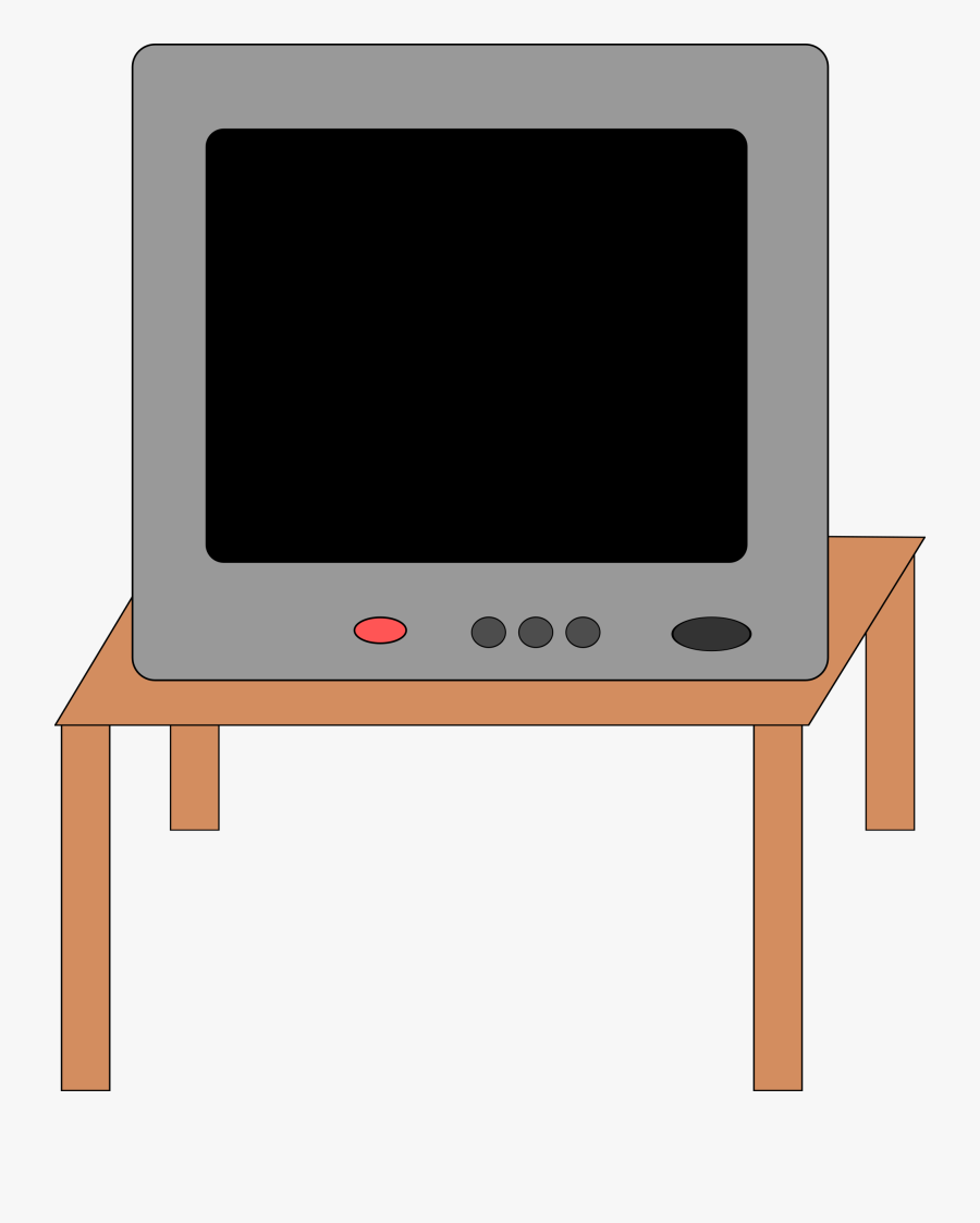 Tv Set 1 - Tv On The Table Clipart, Transparent Clipart