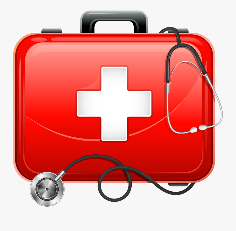 Medical Bag And Stethoscope Png Clipart - Clipart Medical Kit, Transparent Clipart
