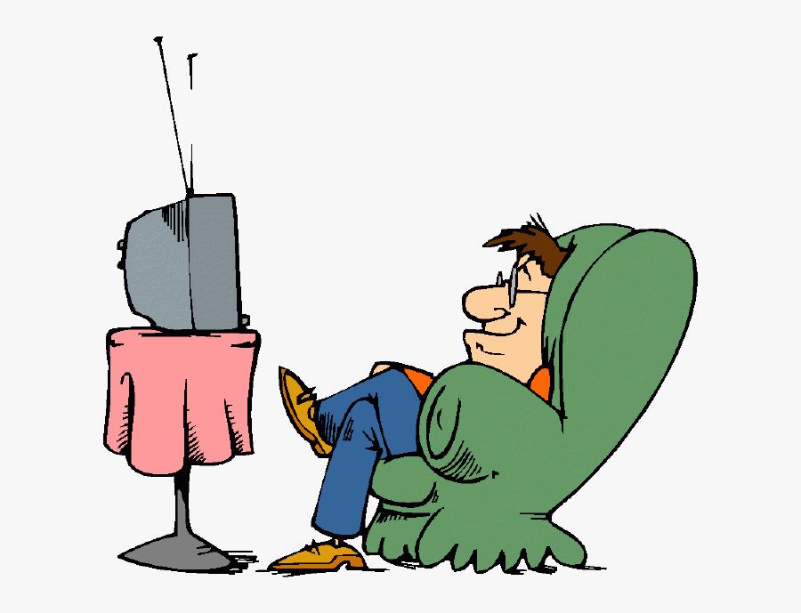 Clip Transparent Download Boy Watching Tv Clipart - Man Watch Tv Clipart, Transparent Clipart