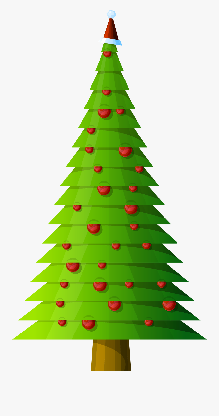 Christmas Tree Modern Style Transparent Png Clipart - Royalty Free Christmas Trees, Transparent Clipart