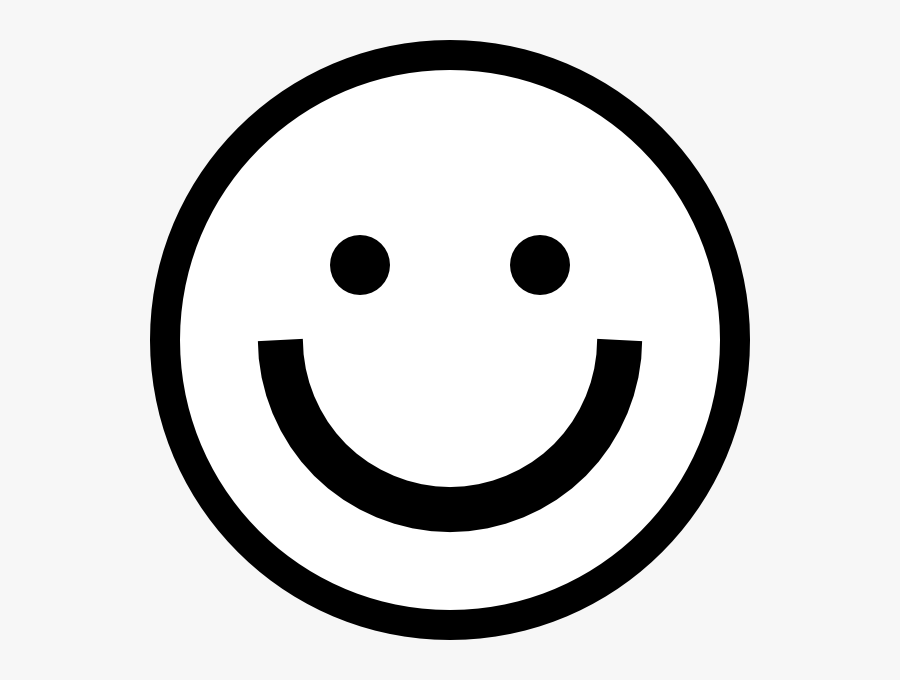Smiley Face Clipart Black And White Free Clipart - Happy Emoji Black And White, Transparent Clipart