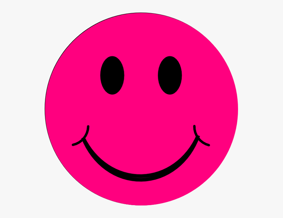 Pink Smiley Face Png, Transparent Clipart