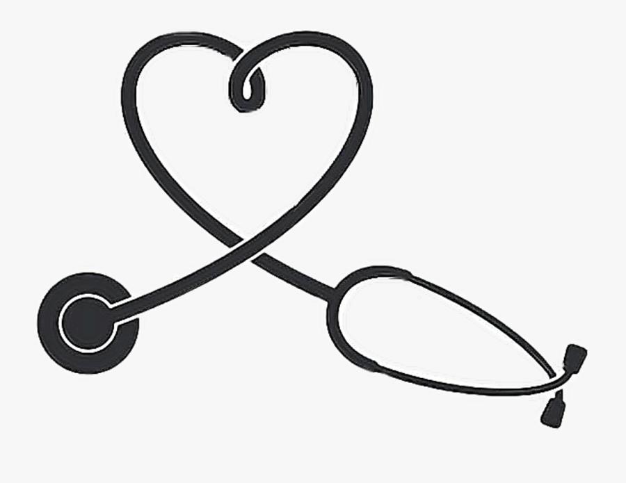 #stethoscope #nurse #nursing #heart #freetoedit - Stethoscope Clipart Heart, Transparent Clipart