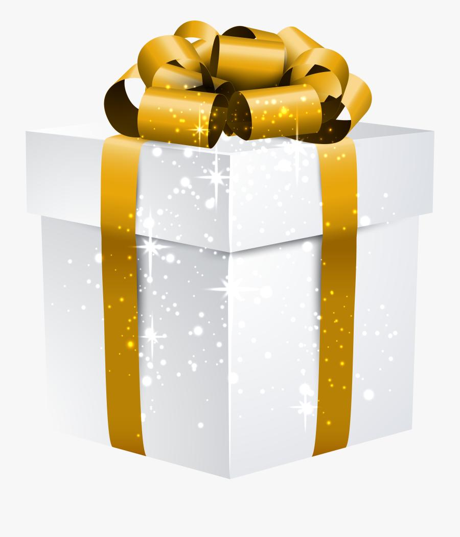 Gold Gift Box Transparent, Transparent Clipart