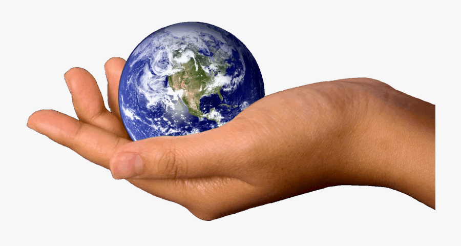 Transparent Globe Clipart Png - Earth In Hands Png, Transparent Clipart