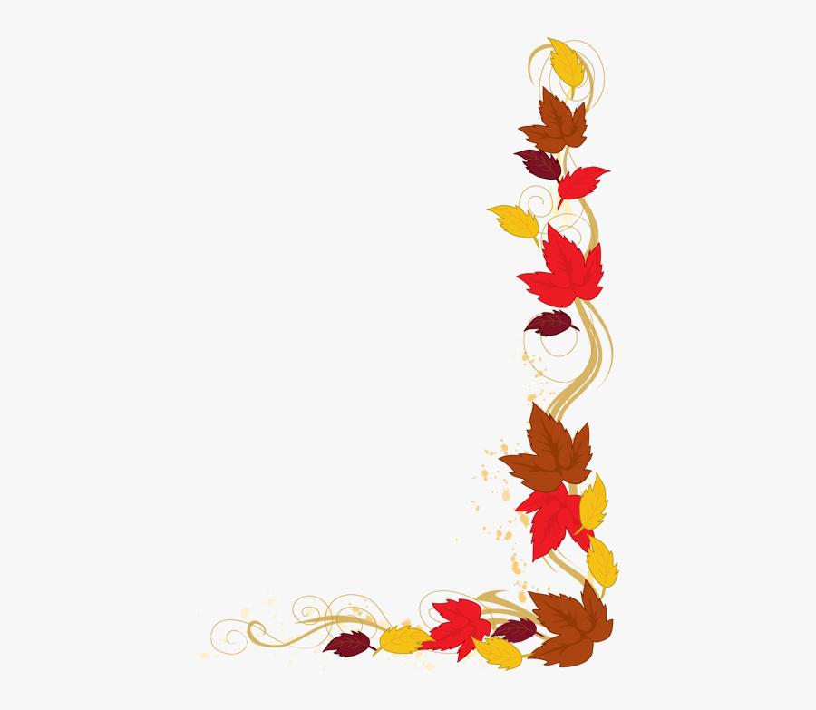 Image Clip Art Autumn - Fall Leaf Border Clipart, Transparent Clipart