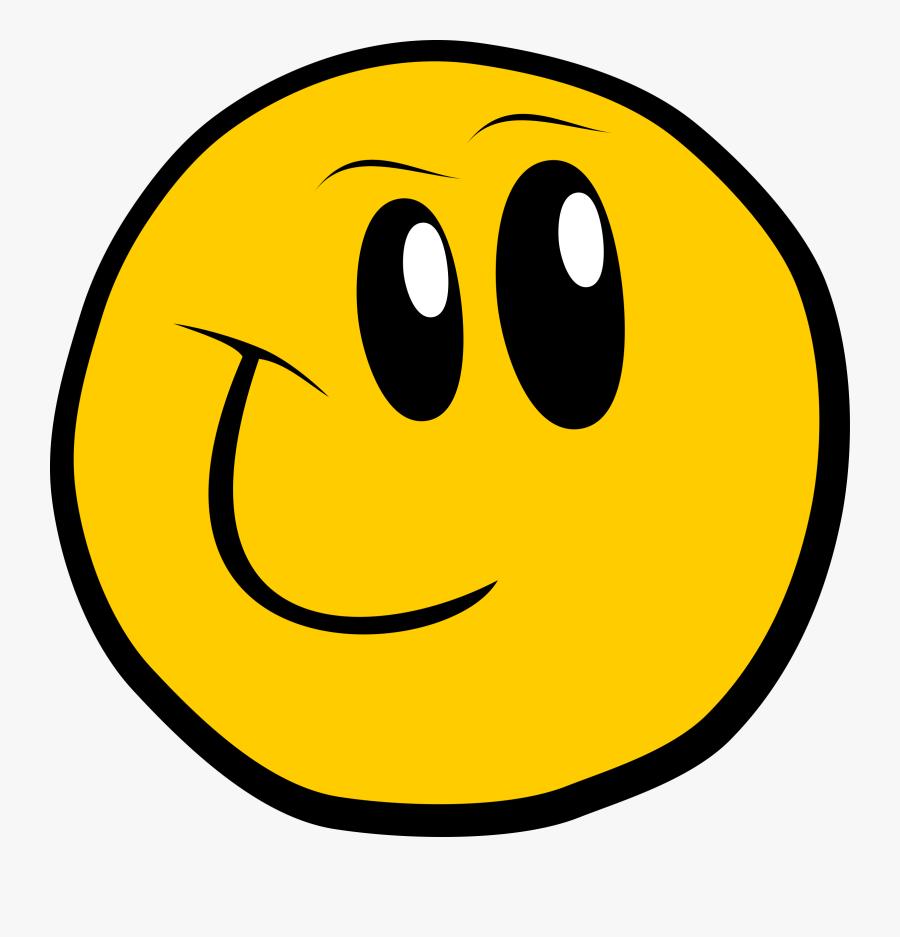 Cute Cartoon Smiley Face, Transparent Clipart