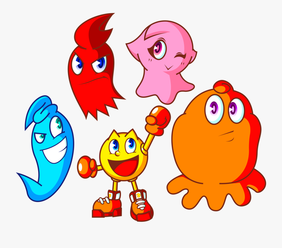 Ghost Clipart Old Man - Pac Man New Ghost, Transparent Clipart