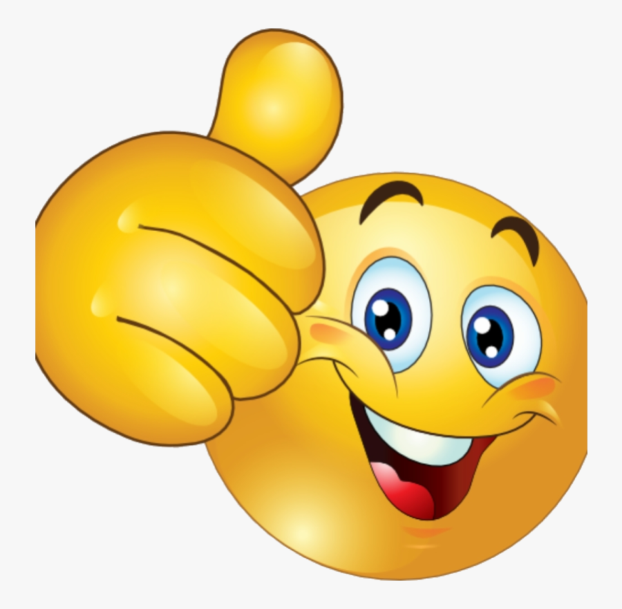 Thumbs Up Clipart Free Happy Smiley Emoticon Face Transparent - Smiley Face With Thumb Up, Transparent Clipart