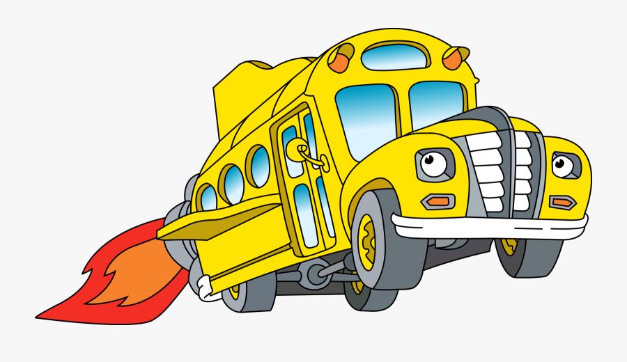 Bus Clipart Transparent Background - Magic School Bus Bus, Transparent Clipart