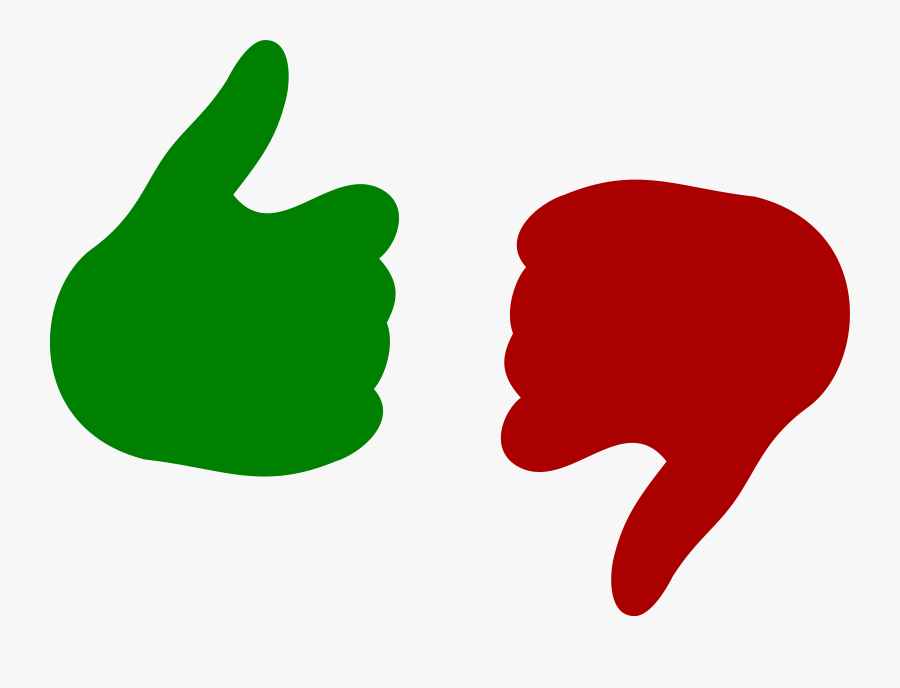 Thumbs Up And Down Png, Transparent Clipart