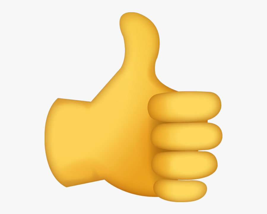 Thumbs Up Emoji No Background , Free Transparent Clipart - ClipartKey