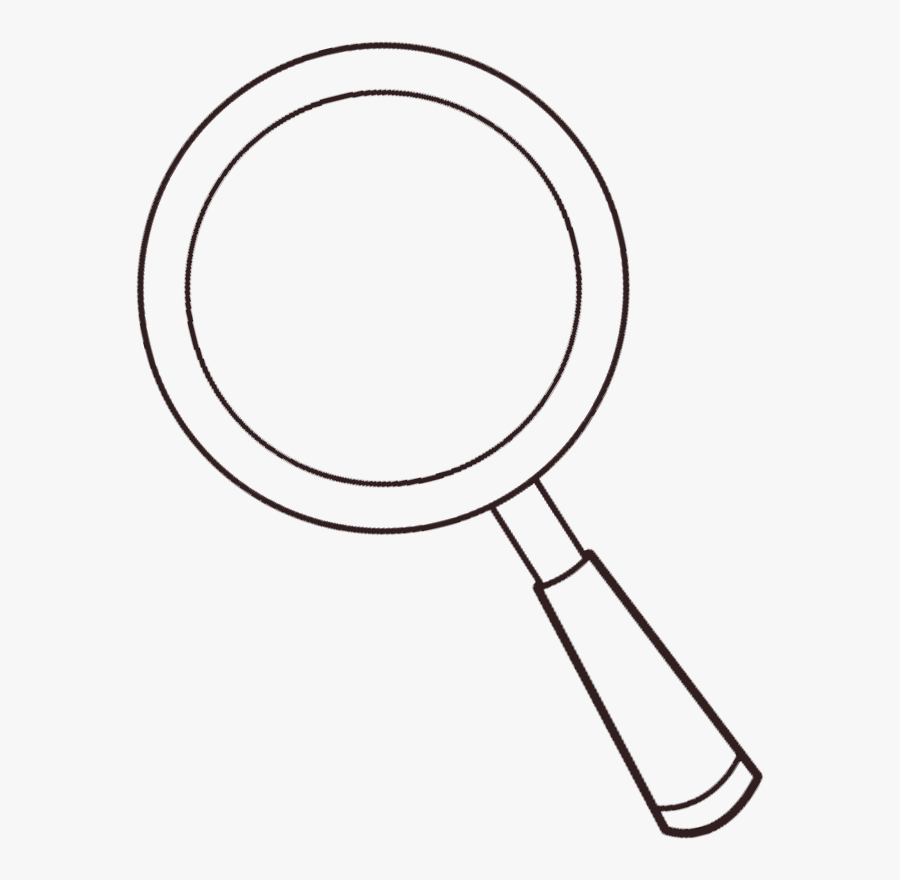 Free Transparent Magnifying Glass Clipart Printable - Magnifying Glass Clipart Black And White, Transparent Clipart