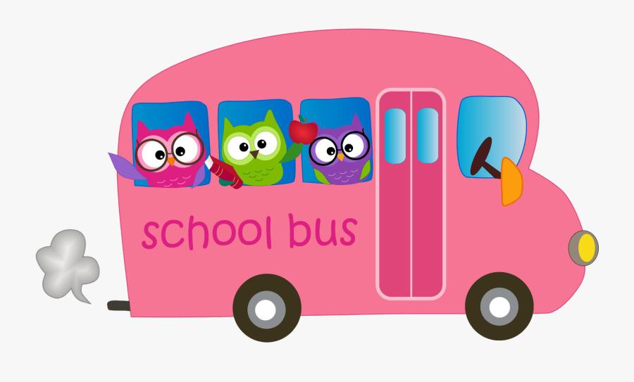 Transparent Owls Clipart - Pink School Bus Clipart, Transparent Clipart