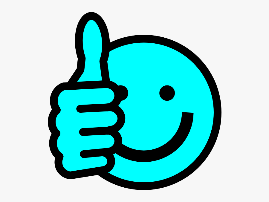 Baby Blue Thumbs Up Svg Clip Arts - Smiley Thumb Up Green, Transparent Clipart
