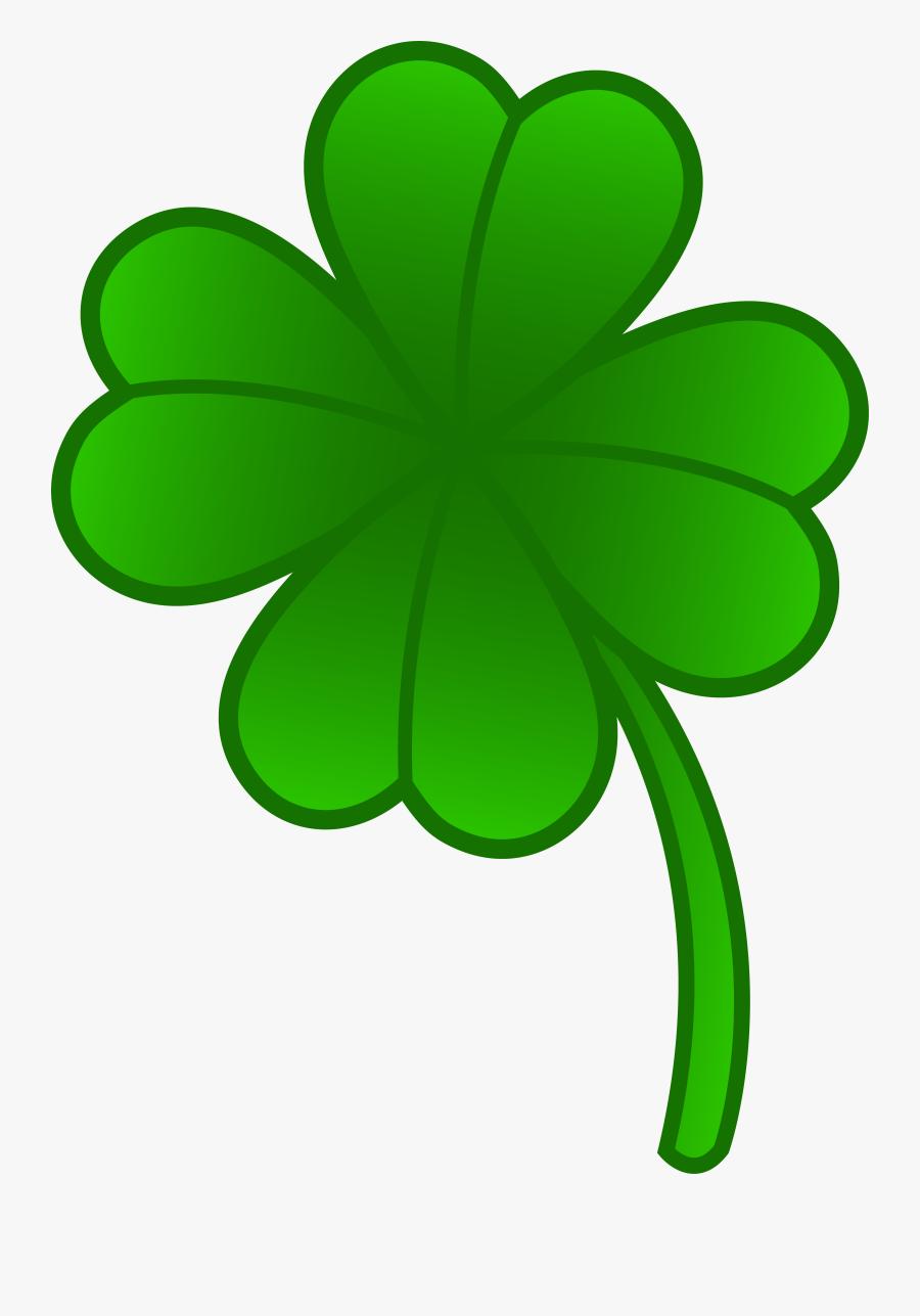 Green Four Leaf Clover - 4 Leaf Clover Clipart, Transparent Clipart