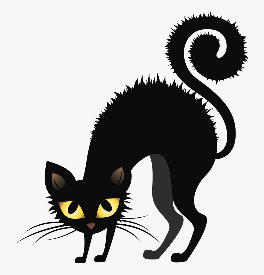 Black Cat,cat,clip Art,small To Medium-sized - Black Cat Halloween Clipart, Transparent Clipart