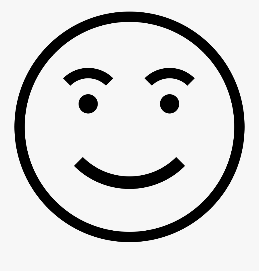 Smiley Face Black And White Clipart 1 Of - Stick Man Smiley Face, Transparent Clipart