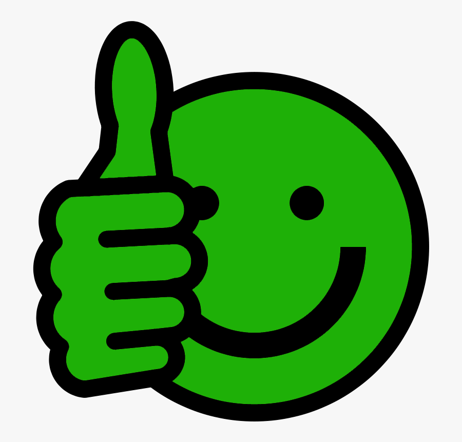 Thumbs Up Smiley Clipart Green Thumbs Up Free Transparent Clipart Clipartkey