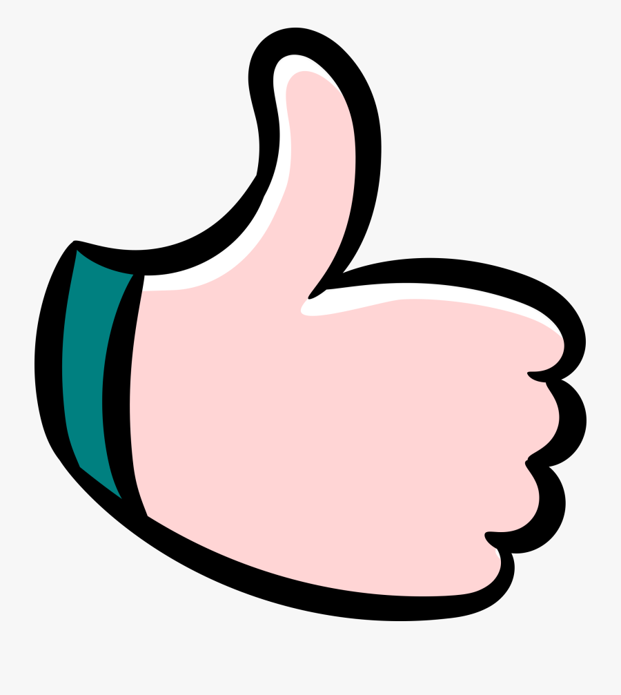 Thumb,area,artwork - Cartoon Thumbs Up Png, Transparent Clipart