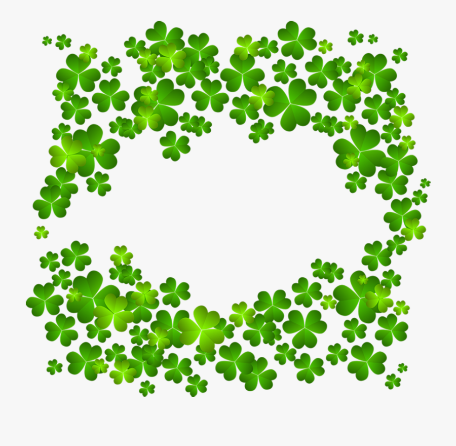 Transparent Background Four Leaf Clover Border, Transparent Clipart