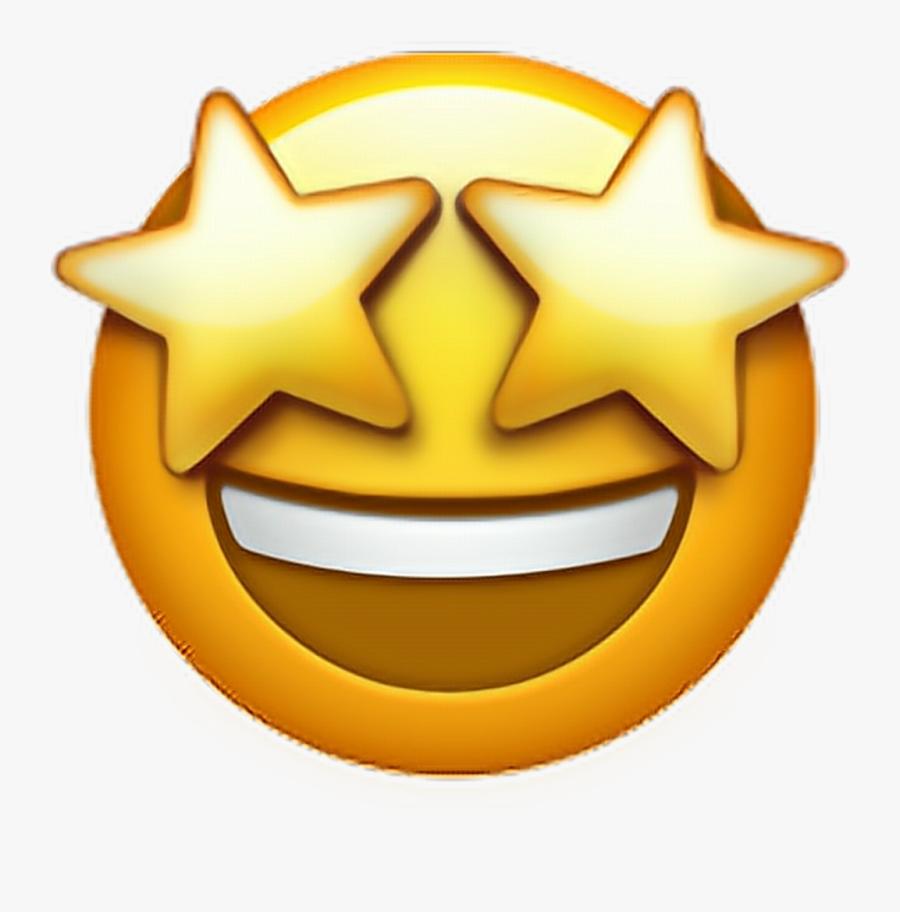 "Don""t Forget Clipart Smiley Face - Transparent Background Star Eye Emoji, Transparent Clipart"