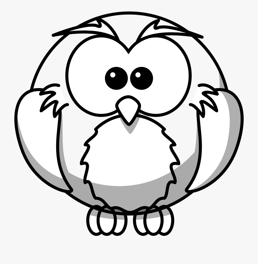 Owl Line Art - Drawing Of Owl Outline, Transparent Clipart