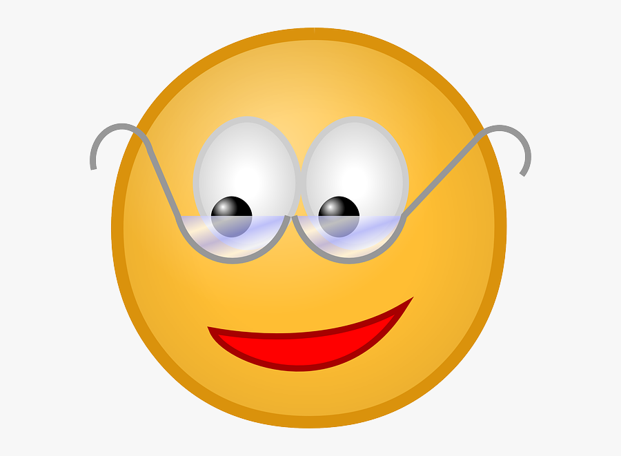 Smiley Face Animated Clip Art Smiley Face Thumbs Up - Smiley Face With Reading Glasses, Transparent Clipart