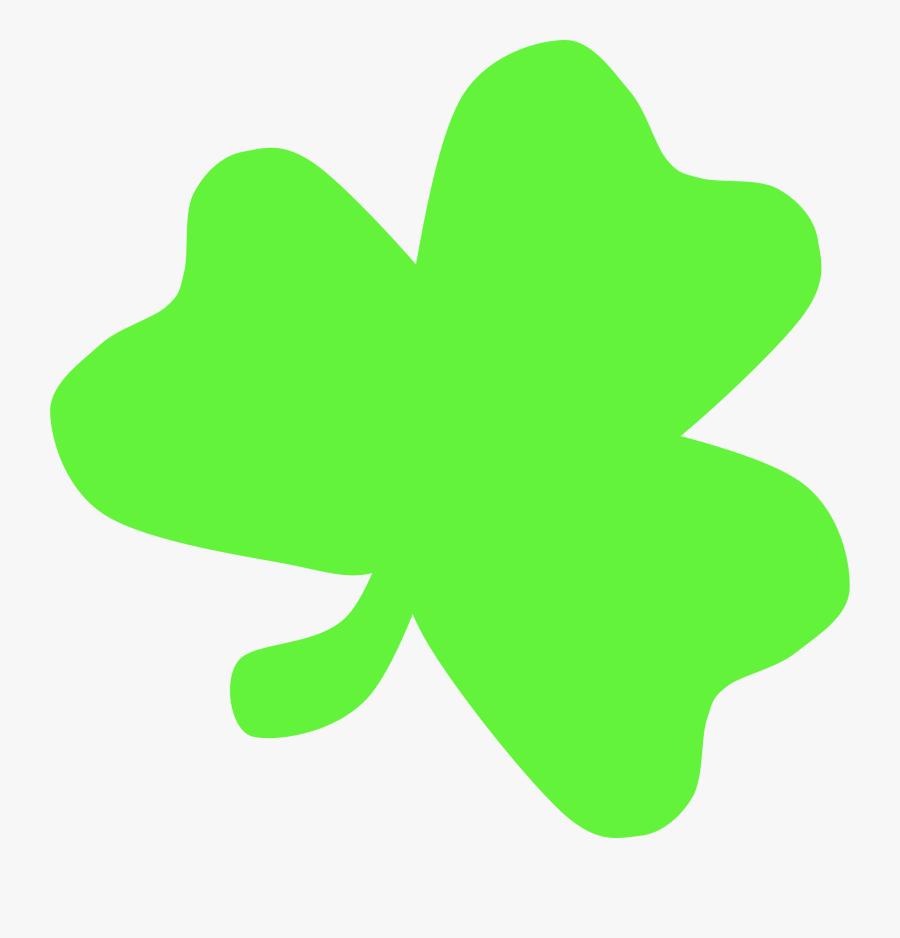 Transparent Four Leaf Clover Clipart - Light Green Shamrock Clipart, Transparent Clipart