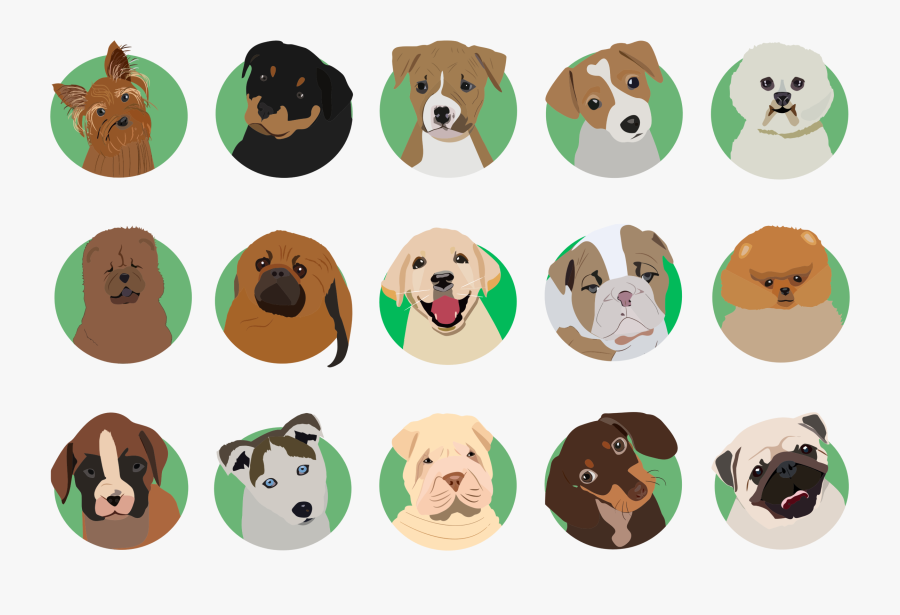 Dog Clipart Breed - Dog Breeds Icon Png, Transparent Clipart