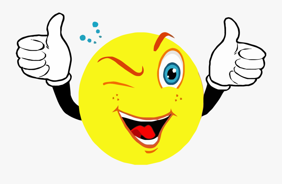 Smiley Face Clip Art - Smiley Face With Thumbs Up, Transparent Clipart