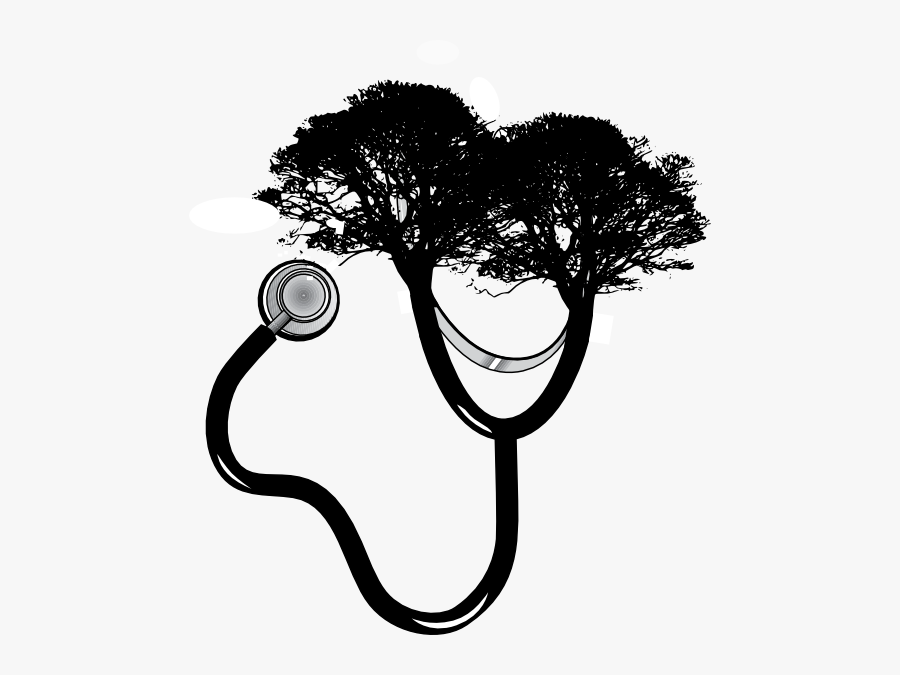 Stethoscope-tree Clip Art At Clipart Library - Green Tree Silhouette Png, Transparent Clipart