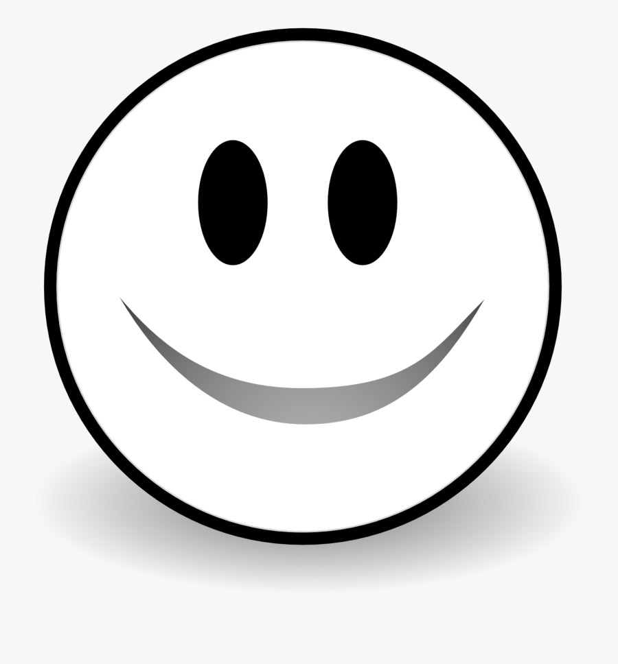 Transparent White Smiley Face Png - Smiley, Transparent Clipart