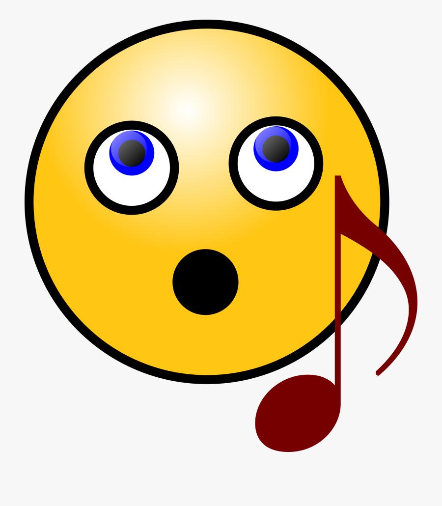 Smiley Face Clip Art Images - Singing Smiley Face Clip Art, Transparent Clipart