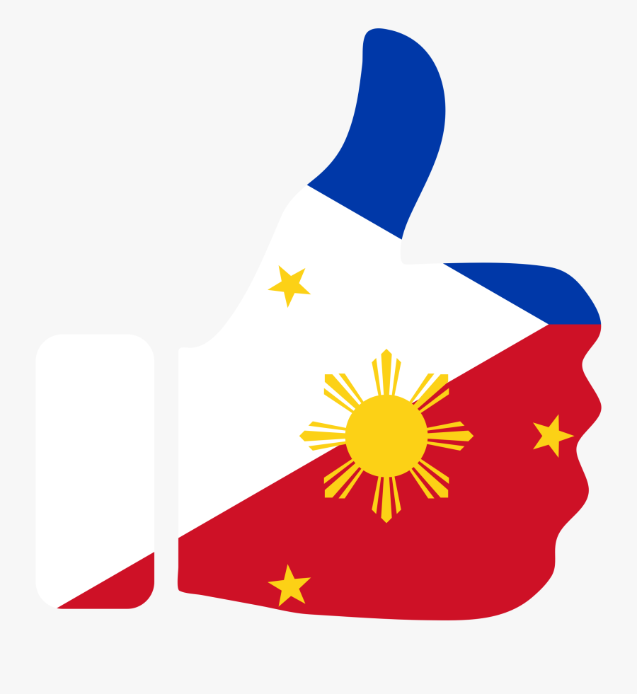 Thumbs Up Philippines With Stroke - Philippine Flag Thumbs Up, Transparent Clipart
