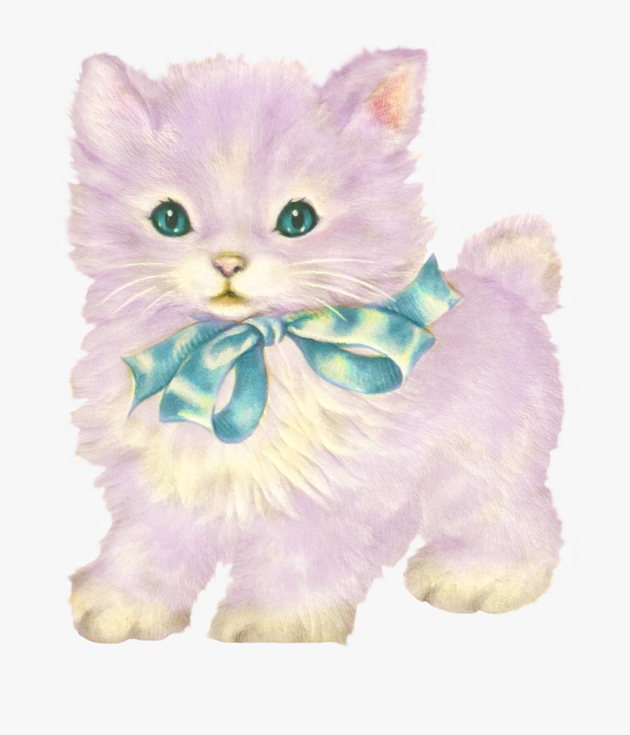 Kittens Vintage Cat Transparent, Transparent Clipart