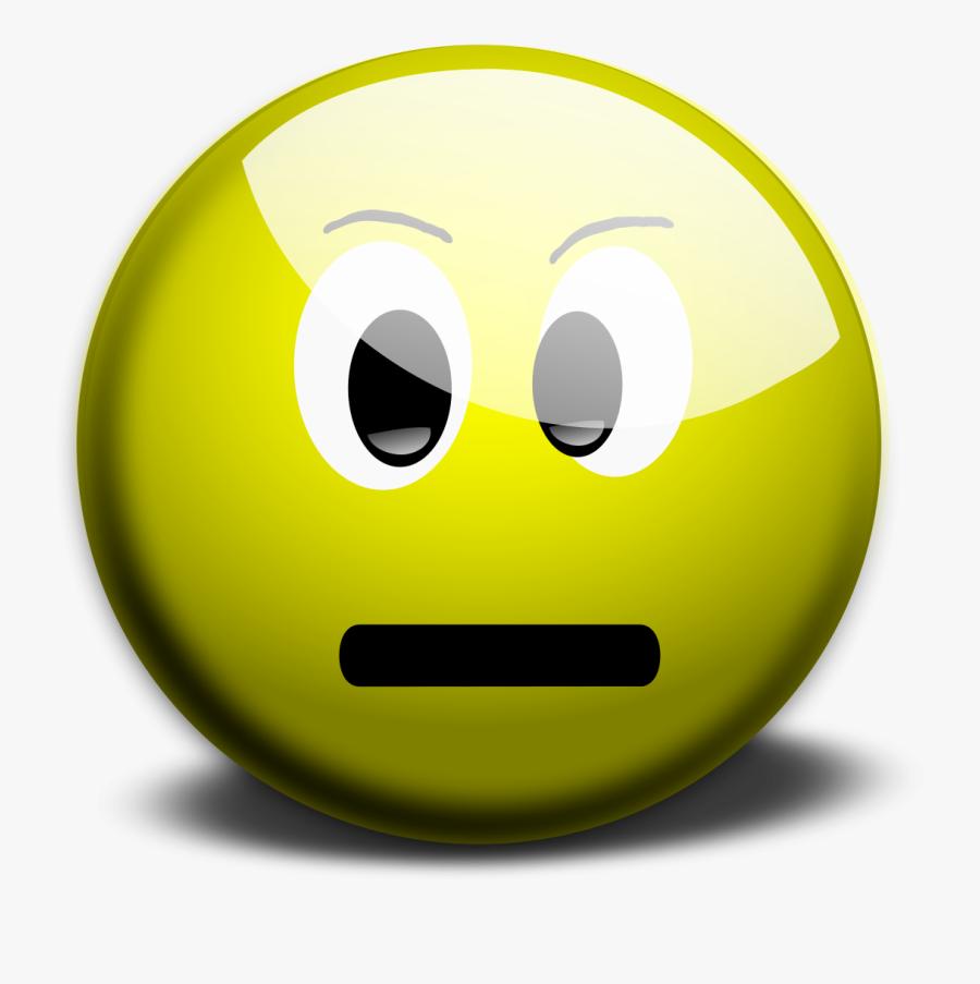 Neutral Smiley Face Clip Art - Yellow Neutral Smiley Face, Transparent Clipart