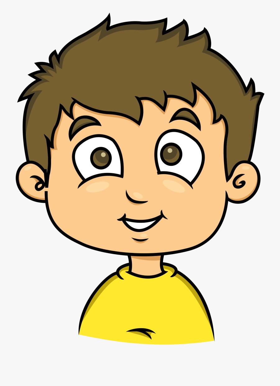 Clipart - Cartoon Boy Creative Commons, Transparent Clipart