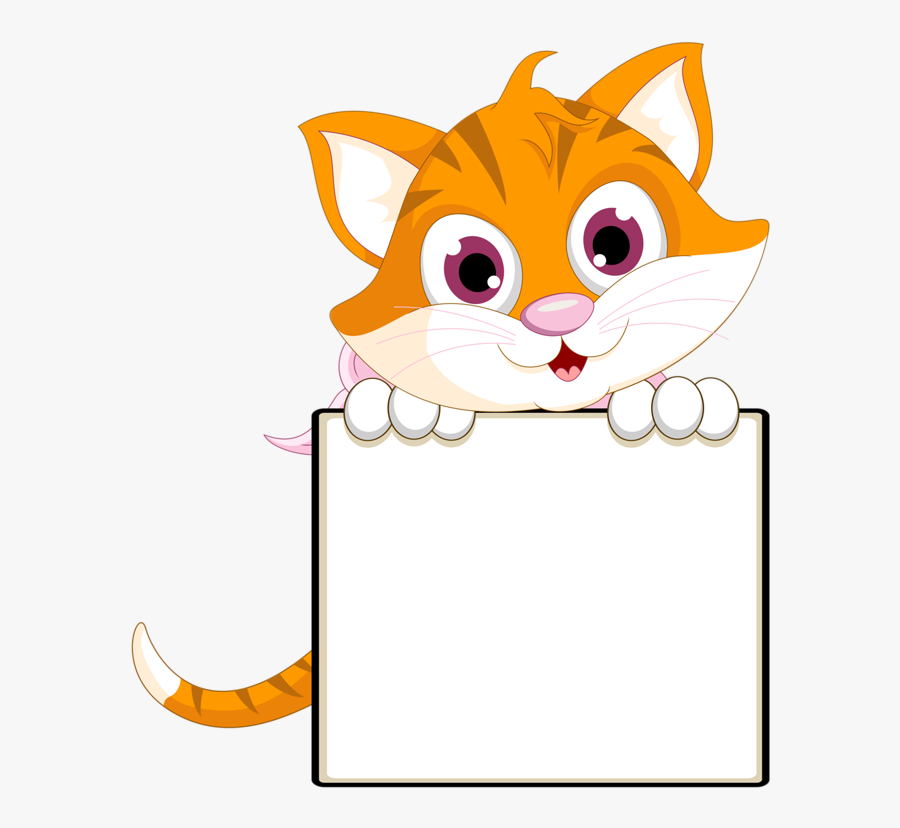 Kitty Cat Clip Art - Cat Borders And Frames, Transparent Clipart