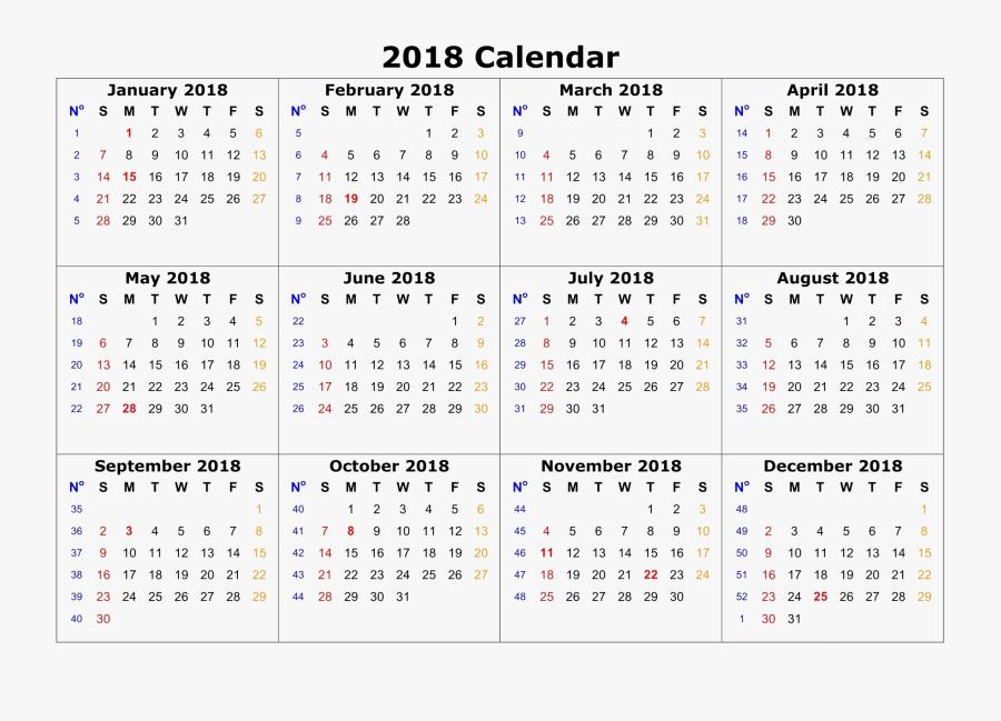 2018 Clipart February Calendar - Calendar 2018 Printable Pdf, Transparent Clipart