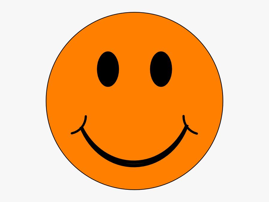 Orange Happy Face Clipart - Orange Smiley Face, Transparent Clipart