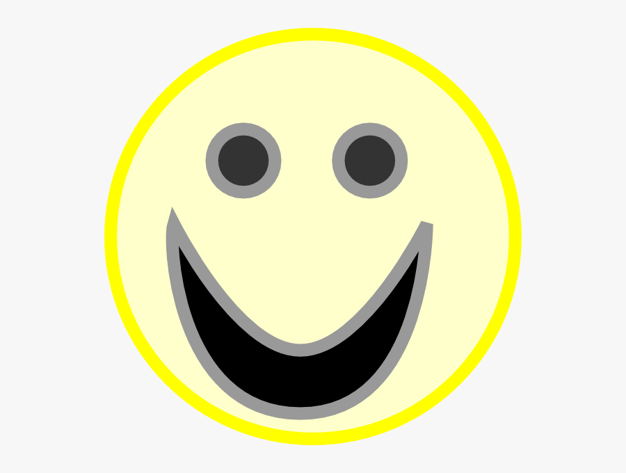 Free Vector Smiley Face Clip Art - Moving Happy Face, Transparent Clipart