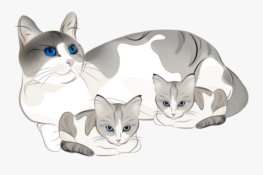 28 Collection Of Cat And Kitten Clipart - Cat With Kittens Clipart, Transparent Clipart