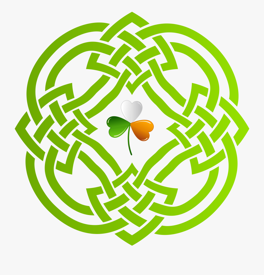 Celtic Knot Shamrock Clipart Clipartfest - Irish Clip Art Transparent Background, Transparent Clipart